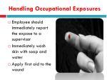 handling occupational exposures