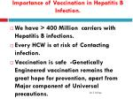 importance of vaccination in hepatitis b infection