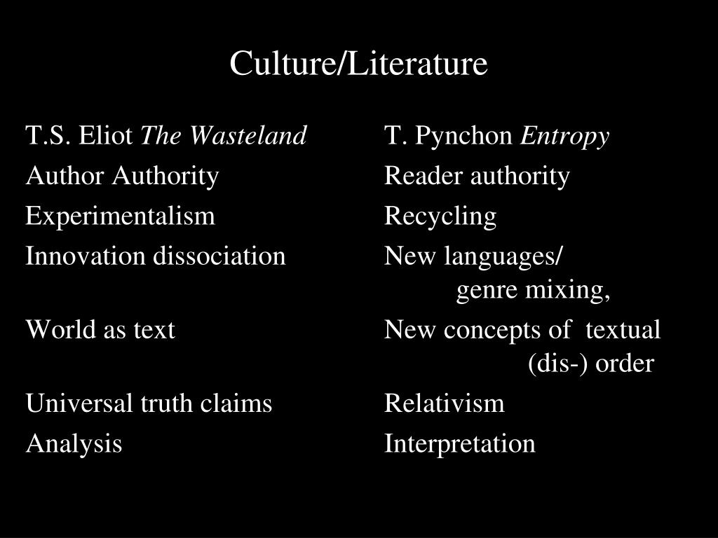 Culture/Literature