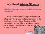 let s read winter blooms