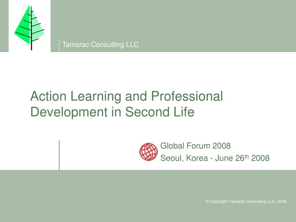 action learning and professional development in second life l.