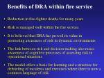 benefits of dra within fire service