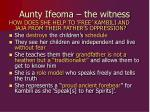 aunty ifeoma the witness