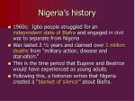 nigeria s history