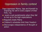 oppression in family context