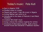 today s music fela kuti