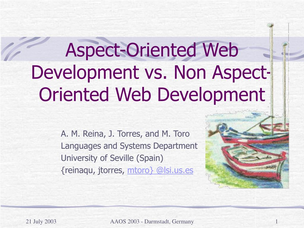 aspect oriented web development vs non aspect oriented web development