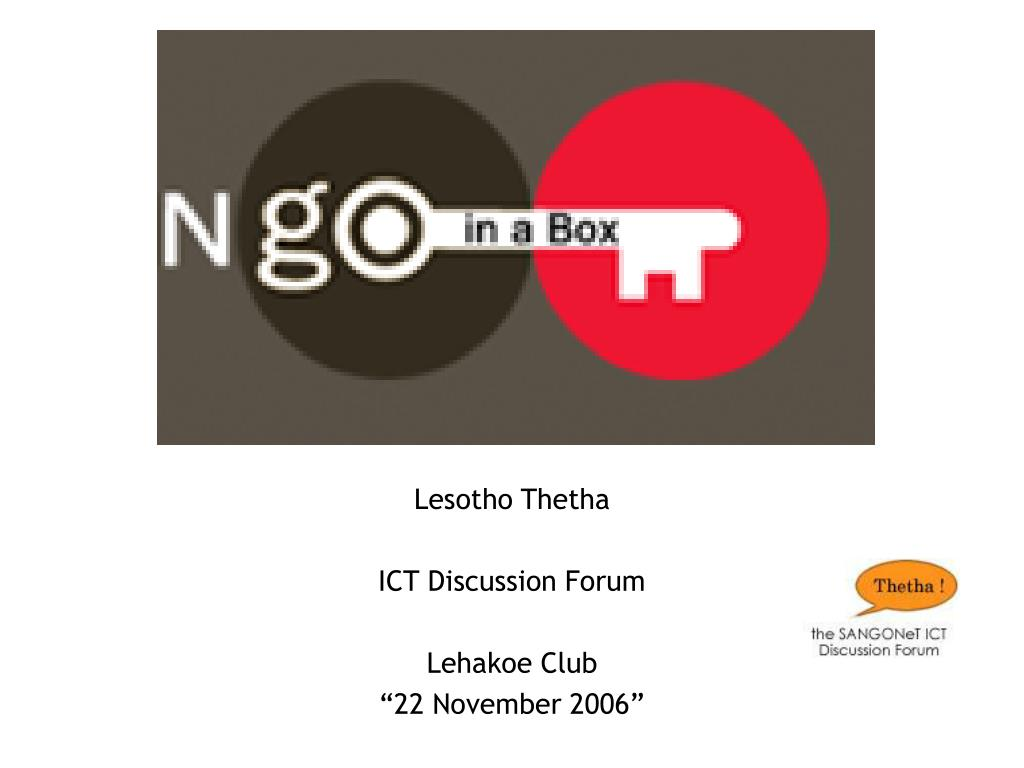 lesotho thetha ict discussion forum lehakoe club 22 november 2006 l.