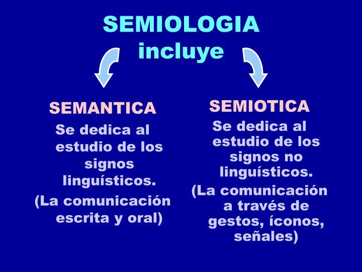 Semiologia incluye