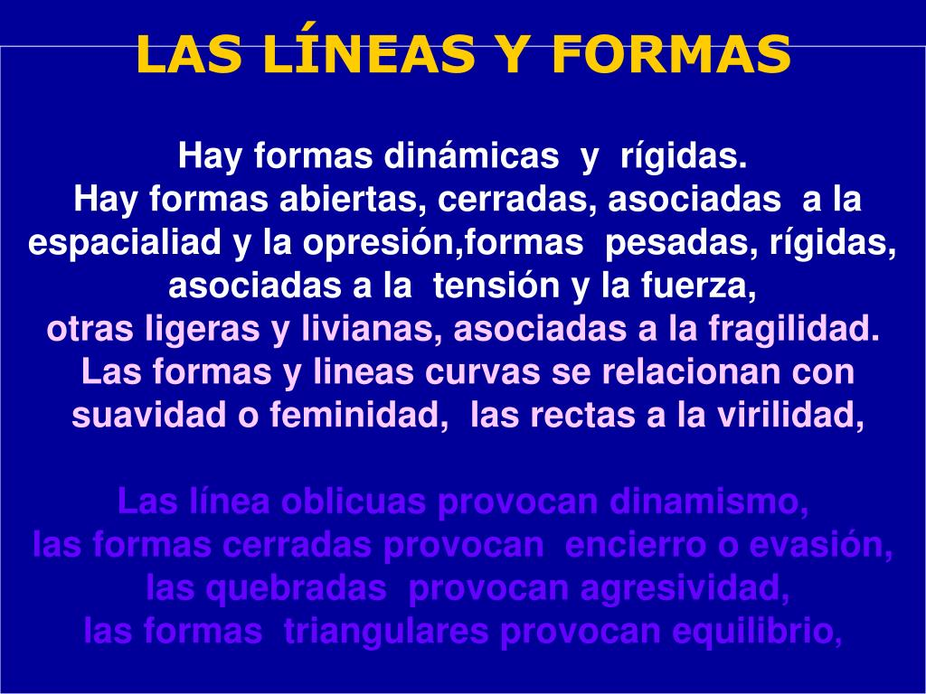 LAS LÍNEAS Y FORMAS