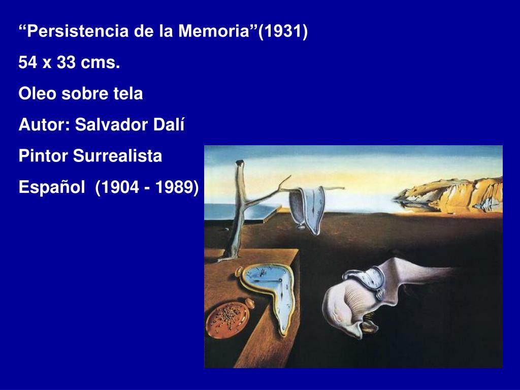 """""""Persistencia de la Memoria""""(1931)"""
