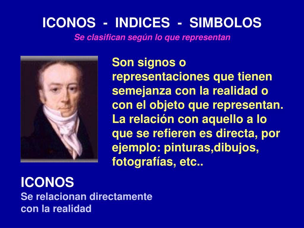 ICONOS  -  INDICES  -  SIMBOLOS