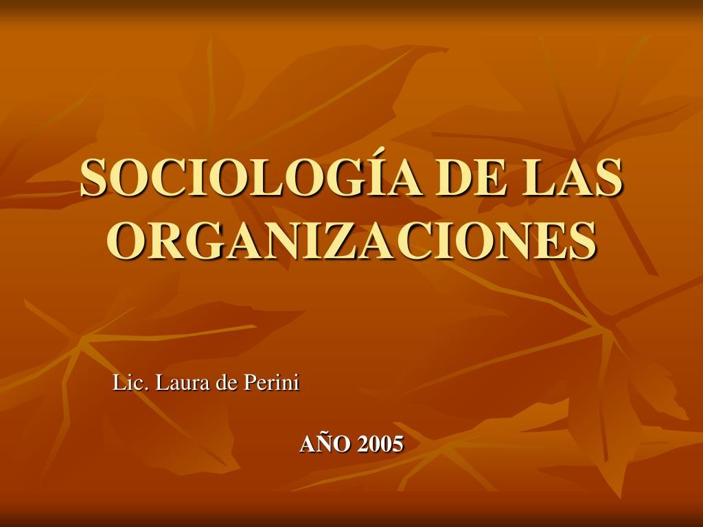 sociolog a de las organizaciones l.