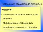 protocolo de altas dosis de esteroides89