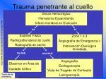 trauma penetrante al cuello