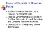 financial benefits of universal design