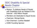 isoc disability special needs chapter