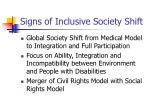 signs of inclusive society shift