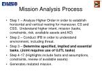 mission analysis process