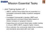 mission essential tasks