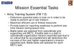 mission essential tasks1