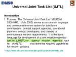 universal joint task list ujtl1
