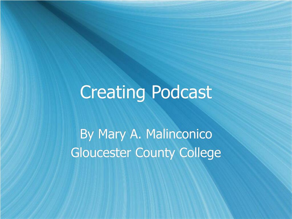 creating podcast l.