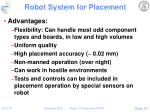 robot system for placement