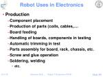 robot uses in electronics