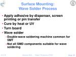 surface mounting wave solder process
