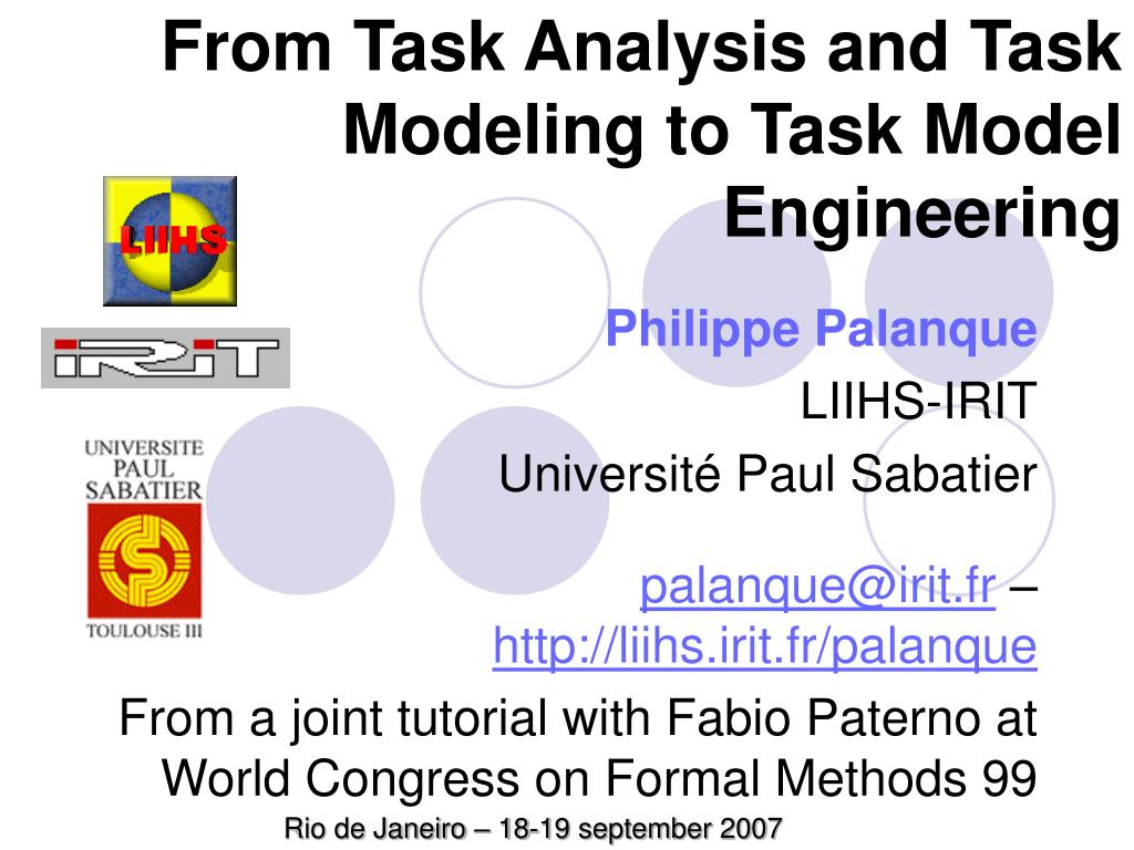 from task analysis and task modeling to task model engineering l.