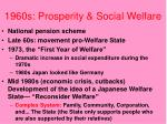 1960s prosperity social welfare