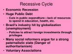 recessive cycle
