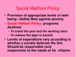 social welfare policy