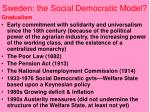 sweden the social democratic model