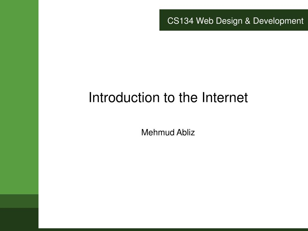 cs134 web design development l.