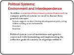 political systems environment and interdependence