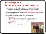 political systems environment and interdependence7