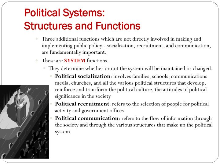 three factors of political socialization After students have read and studied this chapter they political socialization is the process by which certain demographic and socioeconomic factors.