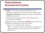political systems structures and functions13