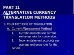 part ii alternative currency translation methods
