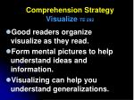 comprehension strategy visualize te 292