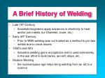 a brief history of welding