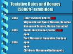 tentative dates and venues 5000ft 2 exhibition