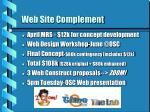 web site complement