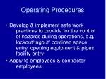 operating procedures38