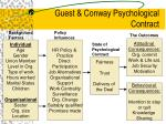 guest conway psychological contract
