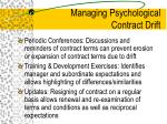 managing psychological contract drift