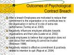 outcomes of psychological contract breach