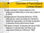 outcomes of psychological contract breach18